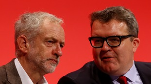 Labour leader Jeremy Corbyn and his deputy Tom Watson
