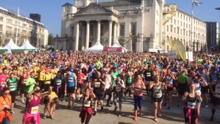 Thousands of runners take part in Leeds Half Marathon