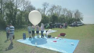 Balloon sent into near space