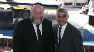 Sadiq Khan with Ephraim Mirvis, Chief Rabbi of the United Hebrew Congregations of the Commonwealth