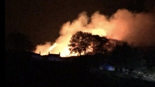 Fire crews tackling blaze on Ilkley Moor