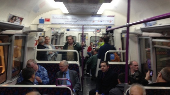 50-year-old Metropolitan Line train.