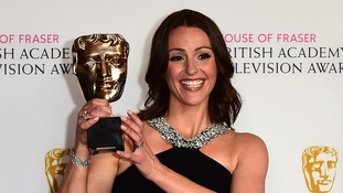 New mum Suranne Jones 'happy with her lot' after Bafta win