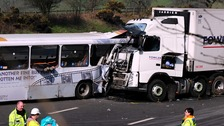 Lorry and Coach crash on the M5