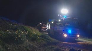 Fire crews on Ilkley moor