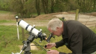 People at the Roseland observatory near St Austell were let down by the cloudy weather