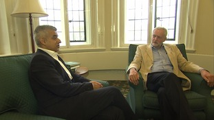 Sadiq Khan appeared in front of the cameras alongside his party leader following his election victory over Tory rival Zac Goldsmith at the weekend.