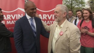 Labour leader Jeremy Corbyn came to congratulate Marvin Rees in person