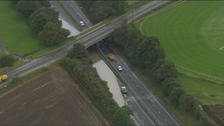 Flooding around Catterick in 2012 closed the A1 for 24 hours