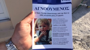 Leaflet being distributed in Kos