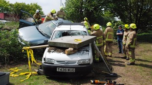 'Disaster' on the A12 shows fire crews how they would cope