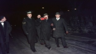 Rev Brydon Maben was arrested at the protest at Newcastleton Station.
