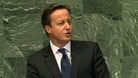 David Cameron addressing the UN General Assembly