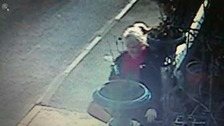 Woman caught on CCTV