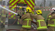 Suffolk firefighters at work.