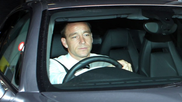 Former England captain John Terry leaves Wembley Stadium yesterday.