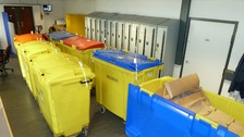 The total weight of the seizure was 1.5 tonnes. Border Force officers filled seven commercial bins with the drugs.