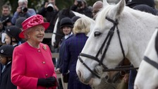 The Queen visited the Ebony Horse Club and Community Riding Centre in Brixton in 2013
