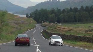 PHOTOS: First cars travel down A591