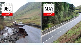 A591 repairs: How much local stone was used?