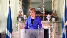 Nicola Sturgeon at Bute House.