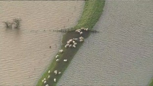 Many farms in Cumbria were flooded.