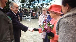 Alastair Stewart meets the Queen.