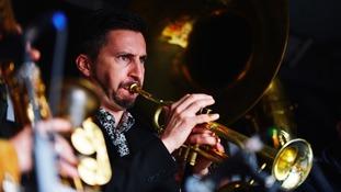Trumpet player at Keswick Jazz Festival.