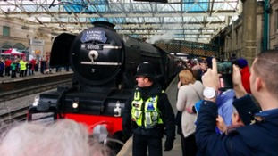 The Flying Scotsman drew large crowds in Carlisle.