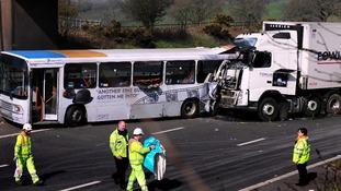 The crash happened at around 6:25am