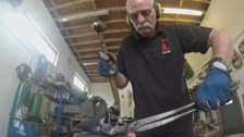 Blacksmith Alan Dawson is working on a special commemoration.
