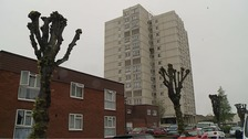 The flats in Southend where Khabi Abrey and her unborn baby died in a fire