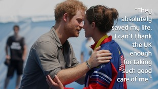 US soldier asks Prince Harry to give Invictus medal to UK hospital which saved her life