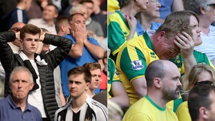 Newcastle and Norwich relegated from the Premier League