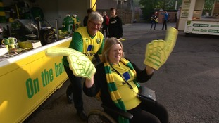 Norwich fans were in high spirits despite the slim chances going into the game.