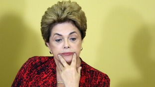 Brazil's senate votes for president Dilma Rousseff to be impeached