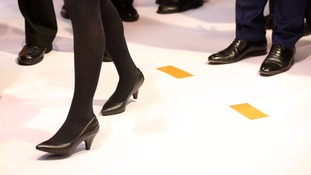 Employers are currently allowed to impose high heels in their dress codes.