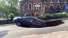 The sinkhole opened up in Greenwich, south east London