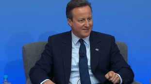 David Cameron addresses the summit