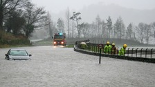 Flooding in Grasmere on 5 December.