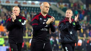 Norwich City manager Alex Neil cuts a dejected figure after relegation was confirmed last night.