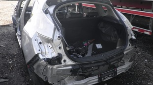 A Vauxhall stripped for parts