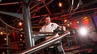 Diner's orders will be sent down a 400m long track to whizz from the kitchen to the tables.
