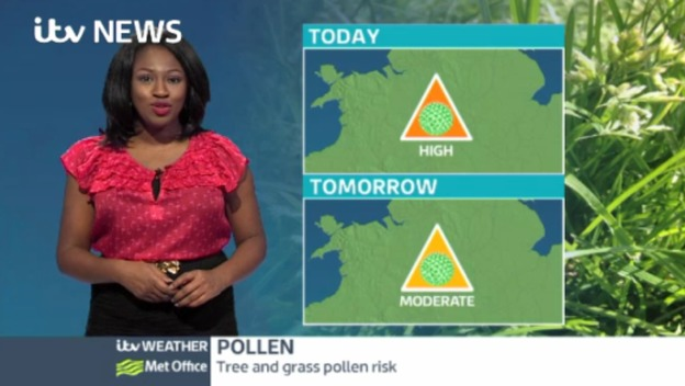 Central Pollen: Moderate tomorrow