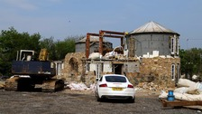 Partial-demolition of castle