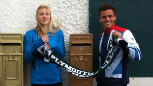 Postboxes for Plymouth's Olympic heroes