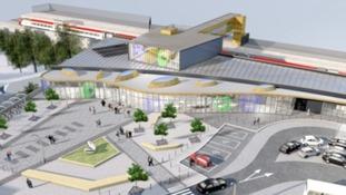 Artist's impression of new Westgate Station