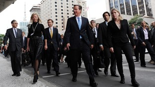 The Conservative politician's trip aims to promote British industry to Brazilian businesses.