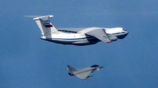 Russian IL76 Candid aircraft