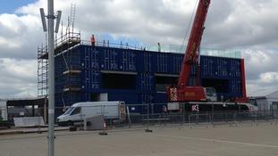 BBC studio dismantled.